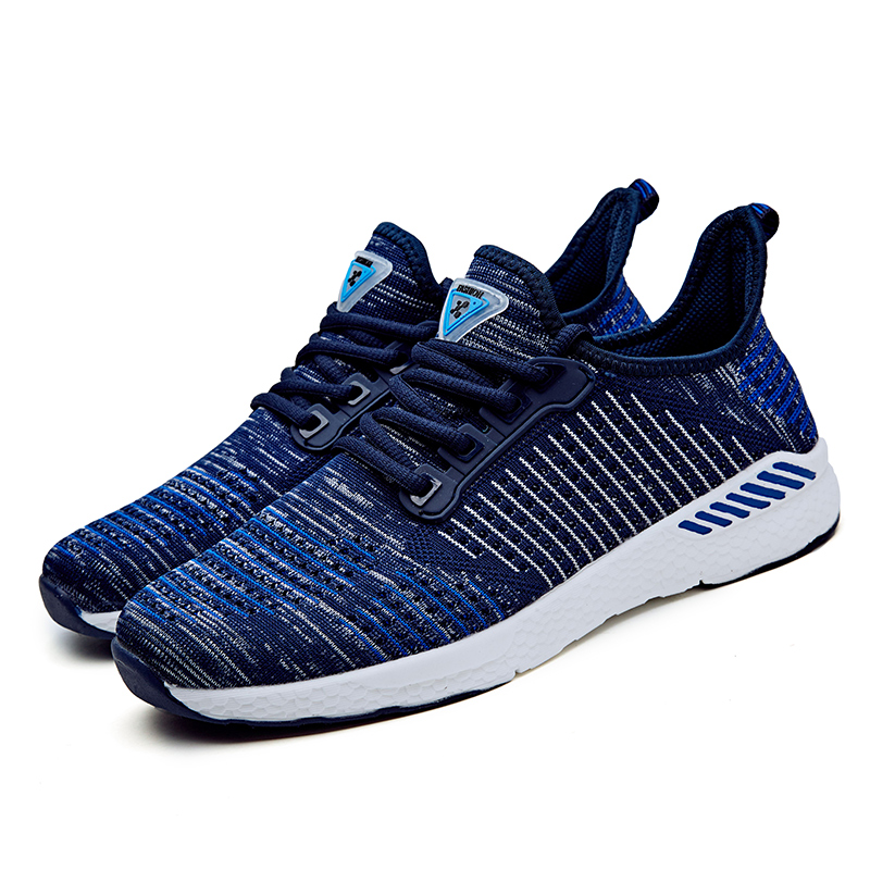 2018 New Flying Woven Couple Shoes Large Size Sneakers Fashion Non-slip Wearable Lightweight Running Shoes
