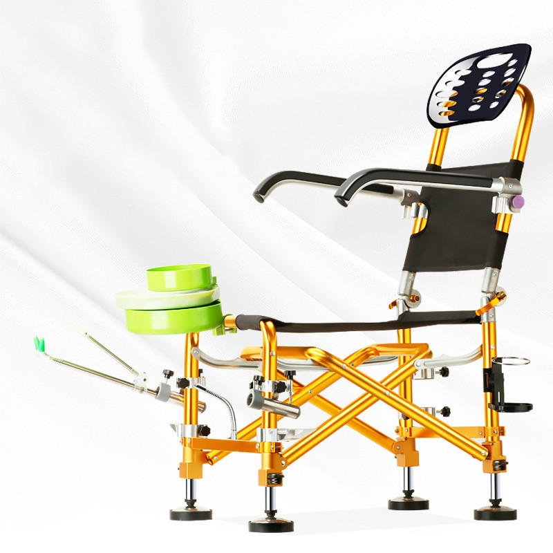 2018 new multifunctional outdoor portable high quailty gold folding chair for fishing chair Aluminum Alloy ...
