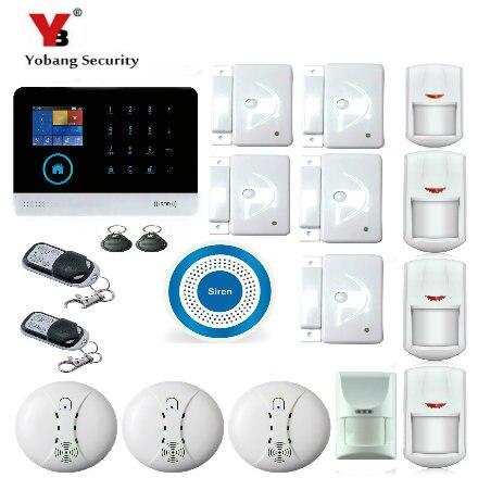 YoBang Casa de Monitoramento de Alarme de Segurança Casa Inteligente Sem Fio de Segurança Em Casa Sistema de Segurança Detector de Fumo E de animais de Estimação Imune.