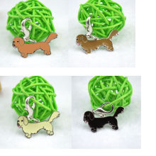 Dog Pet ID Tag Disc Disk Enamel Aksesoris Kerah Kalung Liontin 0404(China)