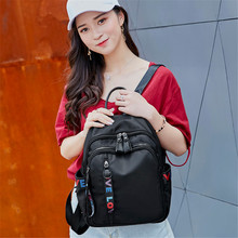 2019 New Shoulder bag Female Oxford Cloth Backpack Female bag Korean Version Of The Tide Fashion Wild Nylon Cloth Casual bag цена 2017