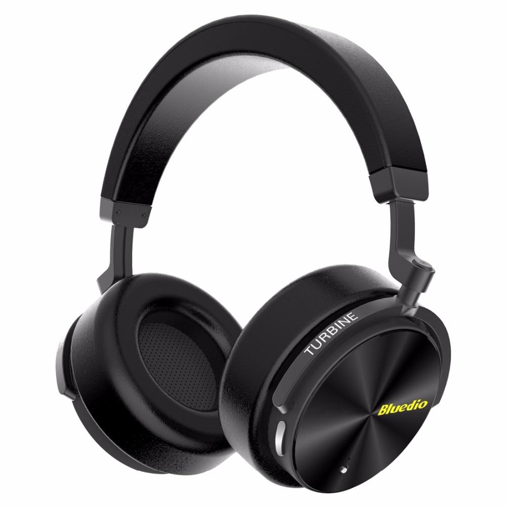 Bluedio T5 Active Noise Cancelling Cuffie Bluetooth Senza Fili Portatile Auricolare con microfono per cellulari e musica