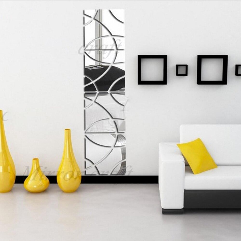 tienda online ms reciente tiempo en stock espejos decorativos d pegatinas de pared decoracin del hogar del arte tatuajes de pared de la boda