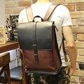 New men crazy horse pu mochila de couro dos homens de alta qualidade sacos de viagem estilo preppy mochilas escolares homens mochila sacos casual mochila