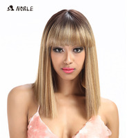 Noble Synthetic Wig For Black Women/613 White Women Short Wig Straight 14 Inch Blonde Wig Cosplay Hair Synthetic Lace Front Wig