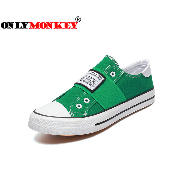 ONLYMONKEY Fashion Slip on Men Vulcanize Shoes Spring and Autumn Men Casual Shoes Durable Rubber Outsole Breathable Men Sneakers