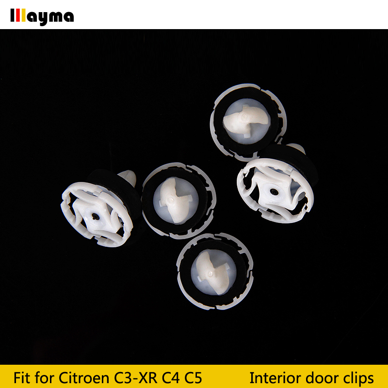 10X Citroen Interior Exterior TRIM CLIPS 6-8 mm
