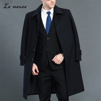 Plus Size 2020 Smart Casual Mens Winter Overcoats Fashion Dress Coat Mens High Quality 4XL