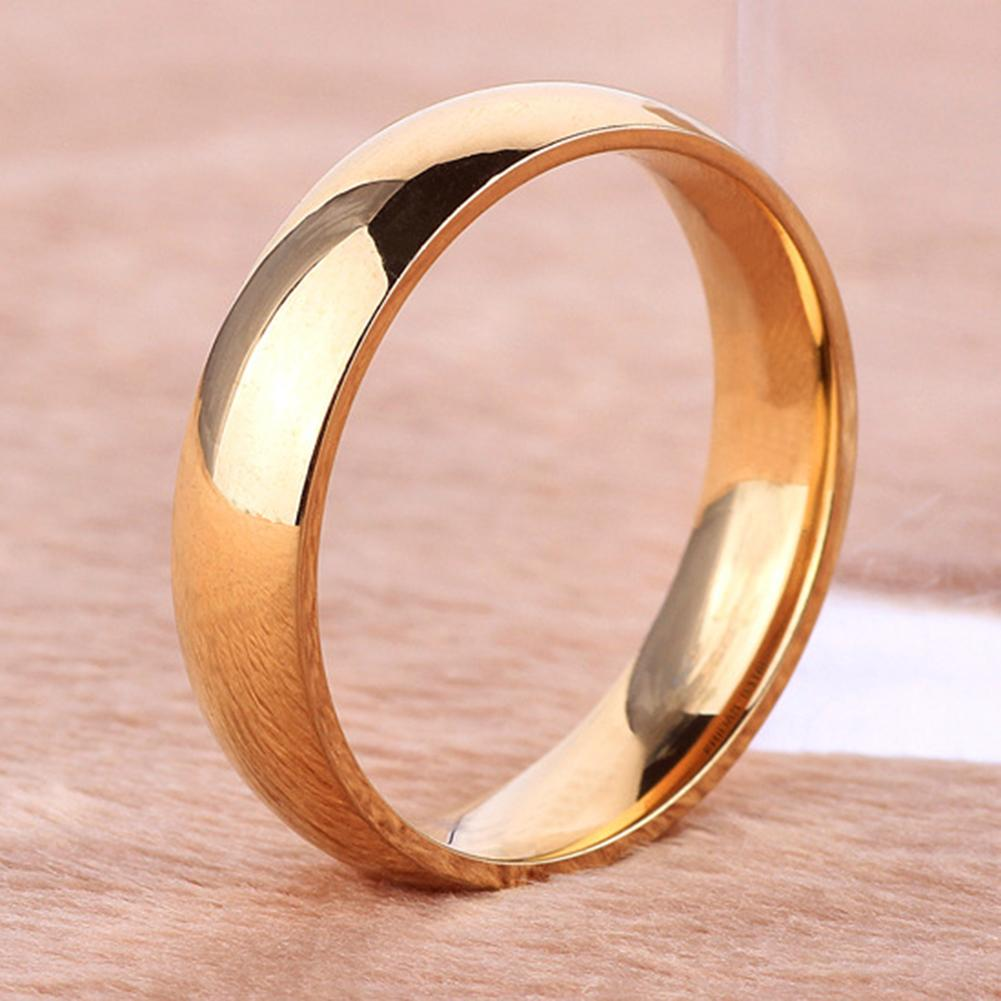 Унисекс простой пар титановая сталь круглой формы кольцо, ювелирные изделия для помолвки, свадьбы, Классические мужские/женские свадебные ...