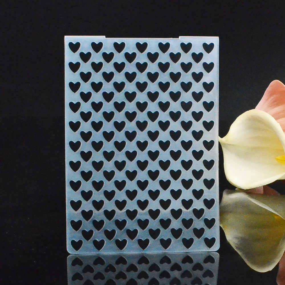 Lifestyle crafts embossing folders - Plastic Embossing Folder For Scrapbooking Diy Crafts Christmas Gift Card Making Heat Pattern Template