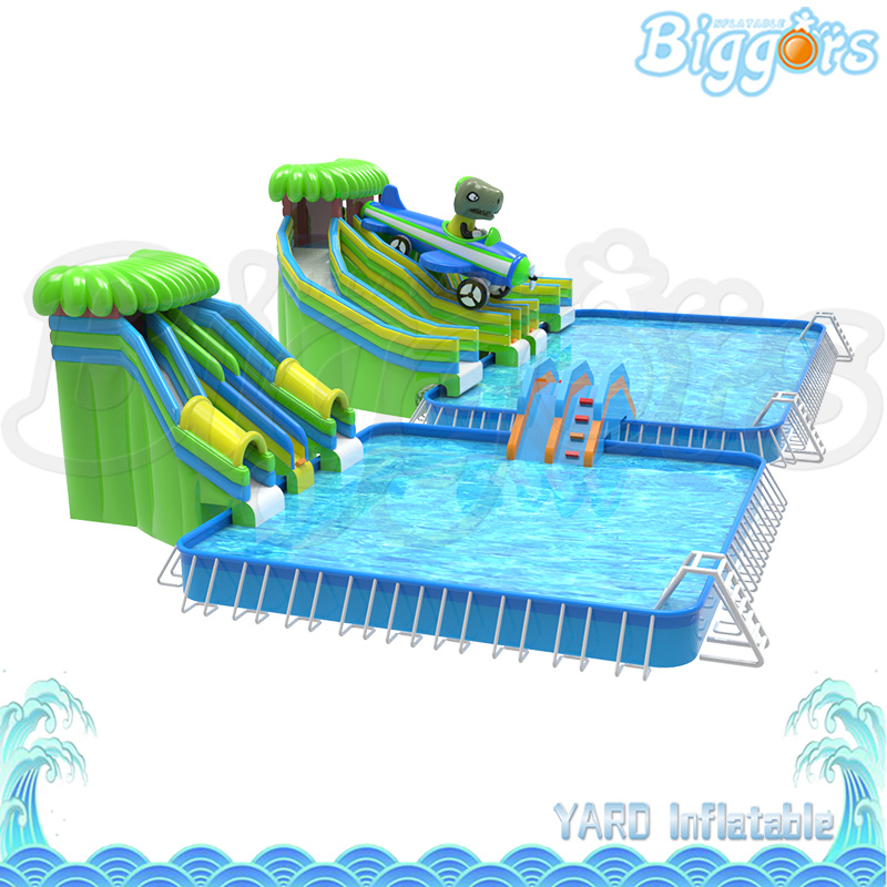 New Design Inflatable Water Slide With Pool Inflatable Water Park Amusement Park For Sale