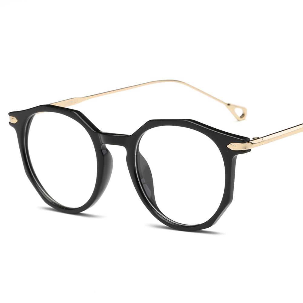 Brand Eyeglasses Frame Metal Round Prescription Glasses Frame With ...