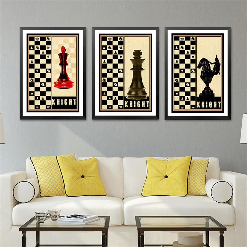 Knight Wall Art Print Poster Fashion Modular Picture Canvas Art ...