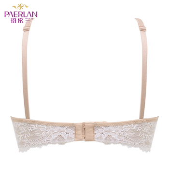 PAERLAN Seamless Wire Free lace bra small breasts Push Up One - Piece sexy Back Closure Tow Hook - and - eye underwear Women Cup 3
