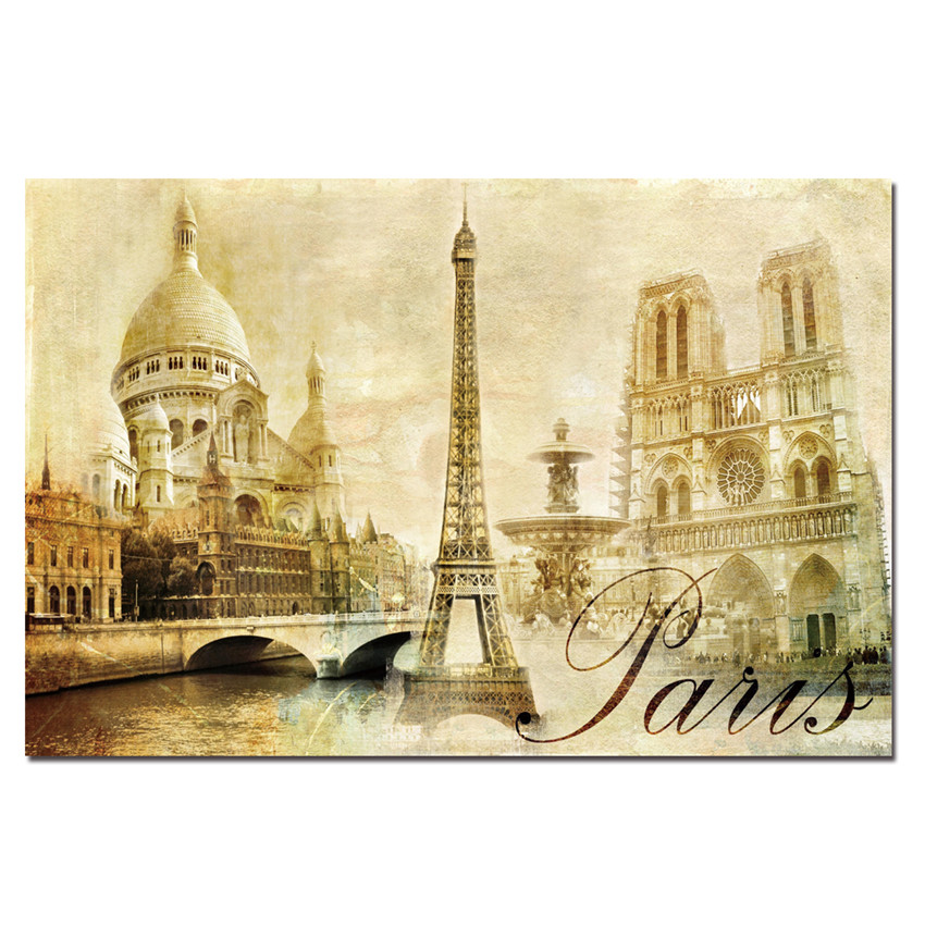 Canvas printings paris painting for living room wall art - Peinture sur toile ...