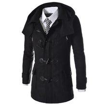 Neue Marke Dufflecoat Männer 2016 Herbst Winter Mode-Design Wollmischung Trench Jacke Herren Pea Coat Mantel Mantel Männer 2XL