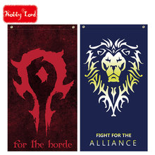 cosplay flag movie version alliance lion & horde big plus size 64*118cm orcs will never be slaves, for the horde!