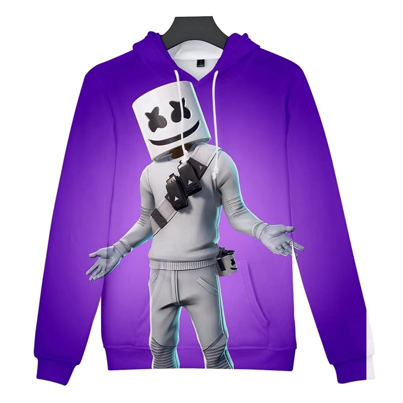 DJ Marshmellow hoodies 8 color ZSQH DJ Marshmello new style Top Cosplay Costume For kids women&Men Marshmallow costume boy&girl