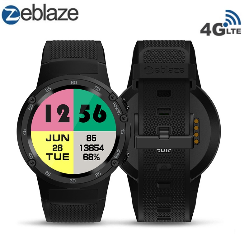 Zeblaze THOR Smartwatch Phone 4 4G LTE GPS Android 7.0 MTK6737 Quad Core 1GB RAM 16GB ROM 5.0MP Camera 4G/3G/2G Watch Phone vernee thor 4g lte 5 0inch hd android 6 0 3gb 16gb smartphone