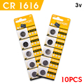 10Pcs/Lot NEW LONG LASTING CR1616 Watch Button Coin Cell Lithium 3V Battery 1616 china Brand 100% Genuine Original
