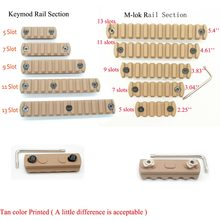 Aplus 5/7/9/11/Slots de Troços Ferroviários Segmento Para Keymod 13/M-lok handguard Picatinny/Weaver Monte Adapter_Tan Cor Impressa