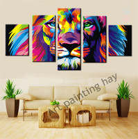 5panel Original Animal Canvas Painting Pictures Art Print On The Canvas Wall Decor Home Wall Art