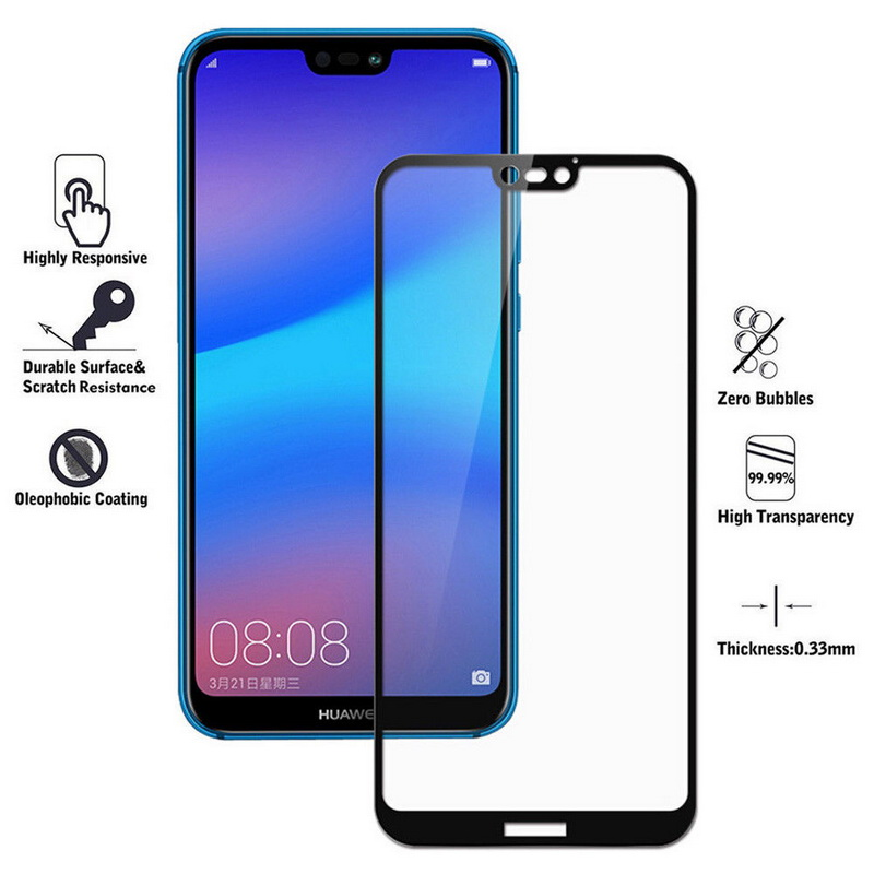 Tempered <font><b>Glass</b></font> Phone <font><b>Case</b></font> for <font><b>Huawei</b></font> <font><b>P20</b></font> Pro <font><b>P20</b></font> Plus <font><b>P20</b></font> Lite Full Screen Protector Film Ultra Slim Scratch-proof Front Cover image