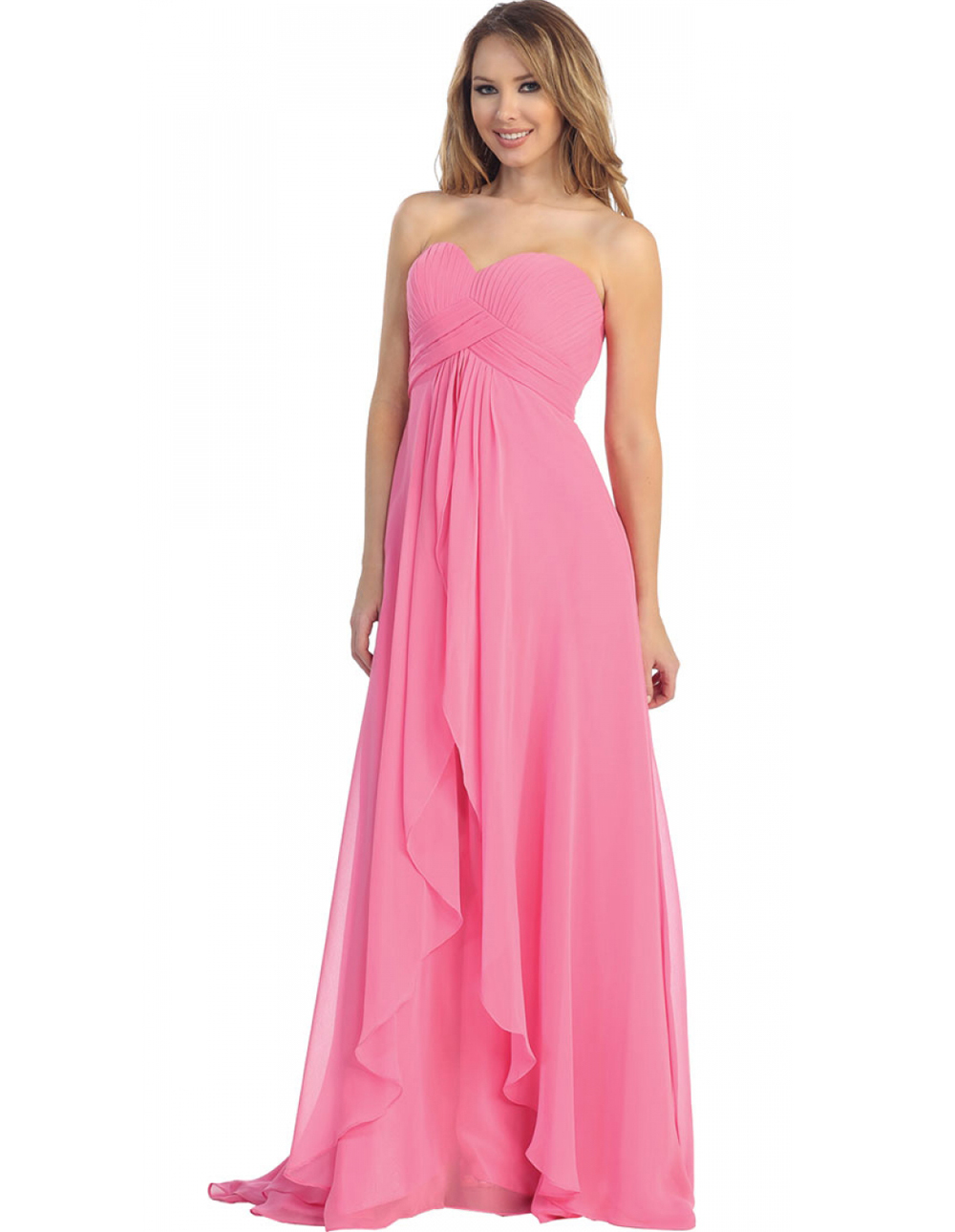 vestido de festa verde 2015 chiffon country prom dresses long empire ...