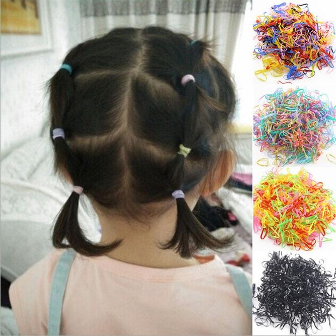 Шт./пакет 1000 (небольшой посылка) новый ребенок ТПУ Резиночки для волос резинки для девочек галстук Резинки аксессуары волос