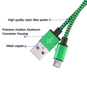 Image 4 - Micro USB Cable 2A Fast Charging Nylon USB Sync Data Mobile Phone Adapter Charger Cable For Samsung Sony HTC LG Android Cables
