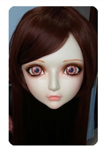 Novelty & Special Use Women/girl Sweet Resin Half Head Kigurumi Bjd Mask Cosplay Japanese Anime Lifelike Lolita Mask Crossdressing Sex Doll dm022