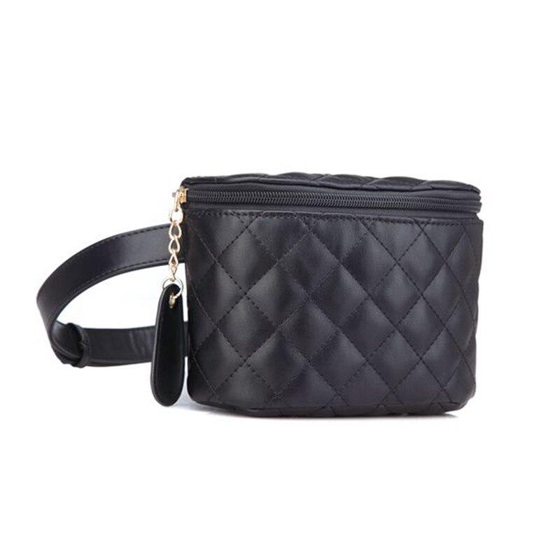 3edafe8ad Fashion Brand Lattice Ladies Bag High Quality Waist Fanny Pack Belt Bag  Pouch Travel Hip Bum Bag Women Leather Small Purse