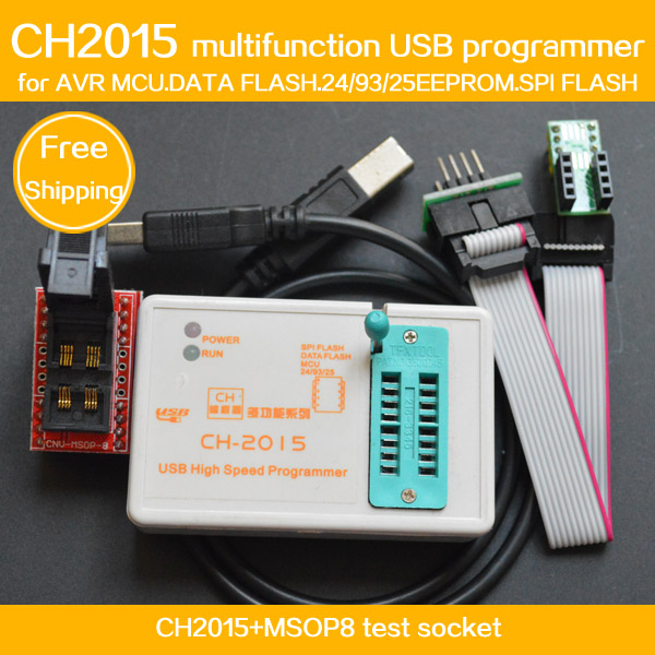 ФОТО FREE SHIPPING!DIY Program COPY CH2015 USB High speed programmer+MSOP8 to DIP8 socket eeorom/spi flash/data flash