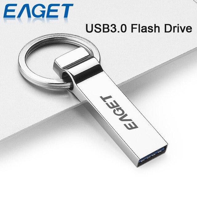 EAGET U90 Официальные Лицензированные USB 3.0 Флэш-Накопитель 32 Г 16 Г USB придерживайтесь Pen Drive Металл Брелок Памяти Memory Stick U диск Для Хранения Stick
