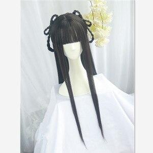 Винтажные волосы 80 см в форме костюма, Карнавальная одежда, аксессуары для костюмированной вечеринки принцессы, волосы для Хэллоуина, древн...