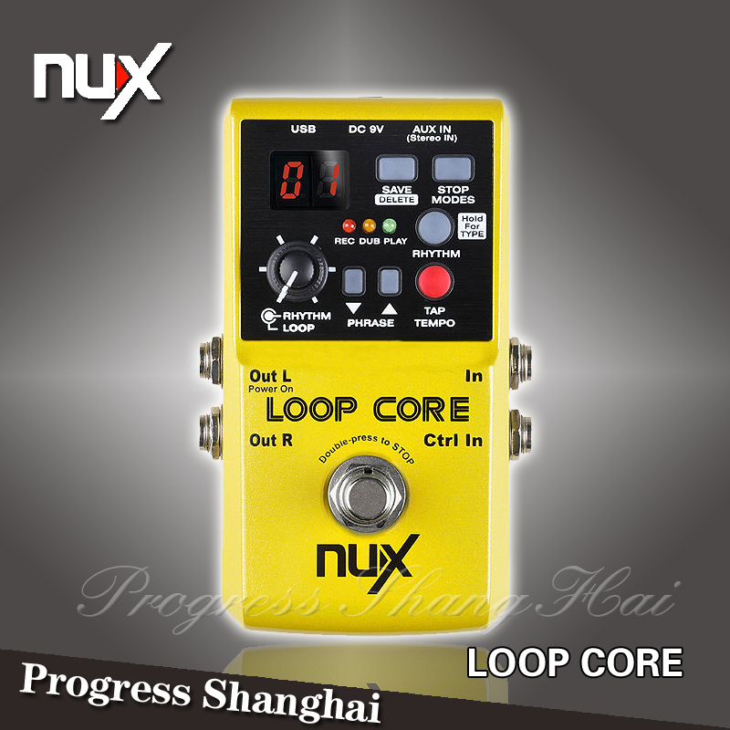 nux loop core phrase loop pedal 40 recording drum machine guitar effect pedal circulation. Black Bedroom Furniture Sets. Home Design Ideas