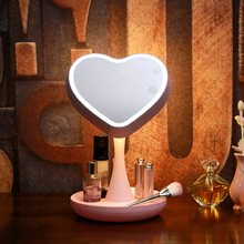 ArtPad Rechargeable Led Makeup Mirror With Light Colorful Lighting Creative Portable Folding Atmosphere Lamp and Reading Lamp