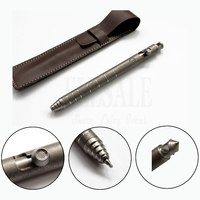 New Titanium TC4 Tactical Pen Retro Design Bolt Switch Self Defense Weapons Glass Breaker EDC Ball