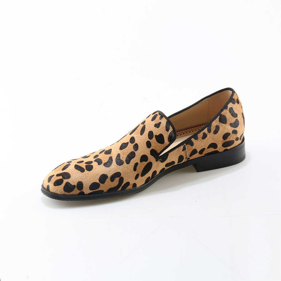 leopard penny loafers