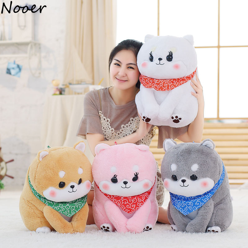 Nooer Kawaii Cartoon Shiba Inu With Flannel Blanket Plush Toy Soft Pillow Cushion Birthday Gift For Kids Baby Children Girls 1pc 65cm cartion cute u shape pillow kawaii cat panda soft cushion home decoration kids birthday christmas gift