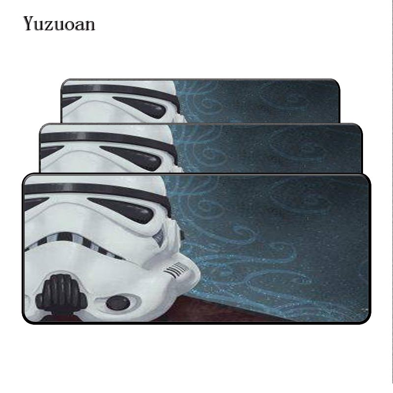 Yuzuoan Star Wars 900x400x3mm pad Large Overlock Gaming Rubber mouse pad Portable Game Keyboard HD VideoPlayer Desk Mat