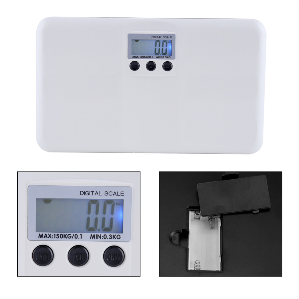 LCD Electronic Digital Weight Scale Tare Function Low Battery Lock Alarm Baby Pet Body kitchen Weighting Scale