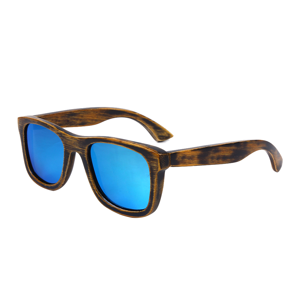 BerWer 2018 Designer Bamboo Wood Sunglasses Polarized Men women Wooden Glasses Coating Summer Style