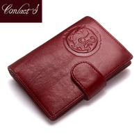 Luxury Brand Women Genuine Leather Passport Wallet Travel Wallets Money Purse With Passport Cover And License