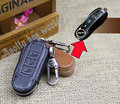 GENUINE LEATHER CAR KEY CASE FOR PORSCHE 911 KEY HOLDER PROTECTOR KEY WALLETS BAGS WITH KEY RINGS WITH FREE SHIPPING