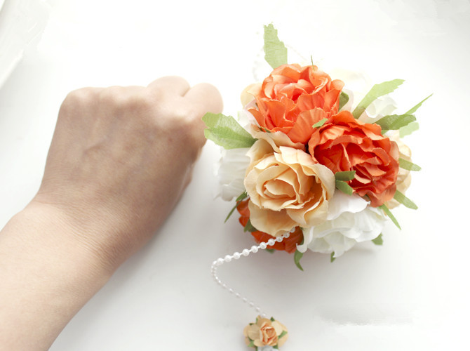 Diy ribbon rose flower ball rose pom poms silk flower wedding party diy ribbon rose flower ball rose pom poms silk flower wedding party decor wholesalers artificial hydrangea 10 colors in artificial dried flowers from home mightylinksfo