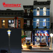 BRIKSMAX 1pcs LED Street Light For DIY Figures Building Blocks Toy Can Decorate All Building Blocks Toys
