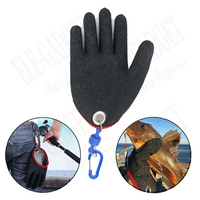 1 Pcs Outdoor Portable Fishing Gloves With Magnets Hook For Fisherman Catching Fishing Anti Slip Cut