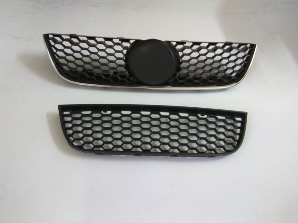 ABS Honeycomb Lacquer that Bake Up and Down Front Racing Grill Fit For vw Volkswagen polo 2006-2010 ABS 2pc массажер 2010 abs ab flex