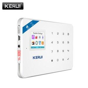 Image 3 - KERUI W18 نظام إنذار WIFI GSM أمن الوطن اللاسلكية كشف الحركة مستشعر الباب طقم إنذار مع 110dB في الهواء الطلق الشمسية صفارات الإنذار